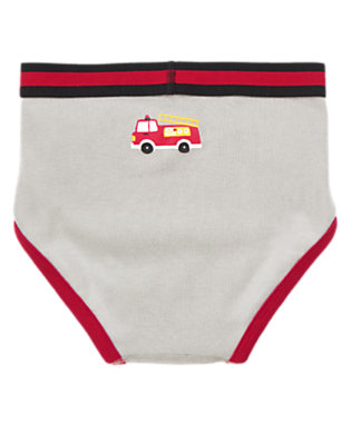 Toddler Boys Smoky Grey Fire Truck Briefs by Gymboree