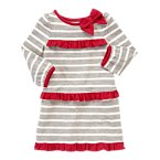 Bow Ruffle Stripe Dress