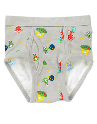 Boys Astro Grey Space Aliens Brief by Gymboree