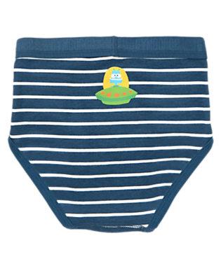 Toddler Boys Navy Stripe Stripe Space Alien Brief by Gymboree