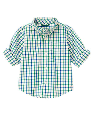 Ivory Check Checked Shirt by Gymboree