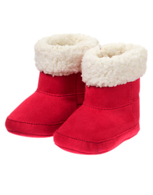 Baby Holiday Red Red Santa Crib Boot by Gymboree
