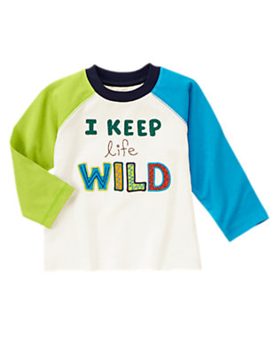 Ivory Keep Life Wild Tee by Gymboree