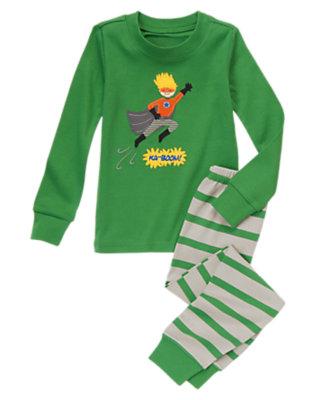 Pow Green Super Boy Two-Piece Gymmies® by Gymboree