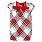 Plaid Duppioni One-Piece