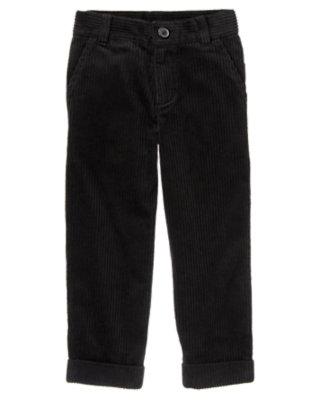 Boys Black Dressy Corduroy Pant by Gymboree