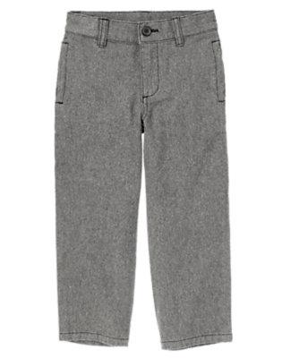 Grey Tweed Dressy Tweed Pant by Gymboree
