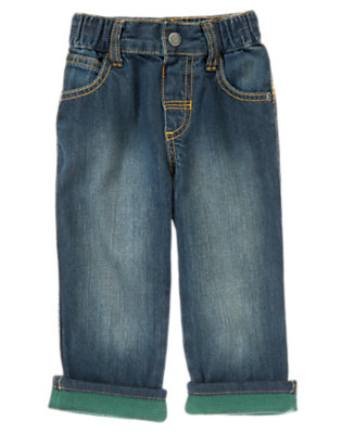 Denim Thermal Cuffed Jeans by Gymboree