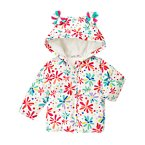 Flower Power Microfleece Puffer Jacket
