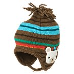 Bear Stripe Sweater Hat