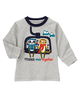 Alpine Ash Friends Stick Together Tee by Gymboree
