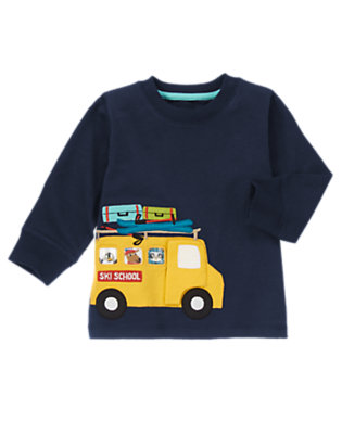 Night Sky Blue On The Bus Tee by Gymboree