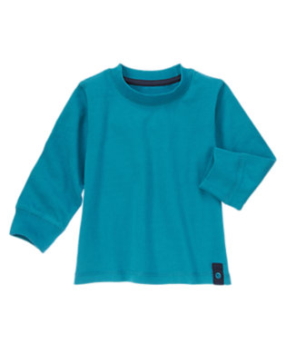 Toddler Boys Wintertime Teal Grommet Tee by Gymboree