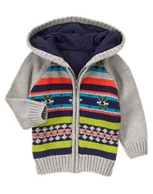 Alpine Ash Fair Isle Sweater Cardigan by Gymboree