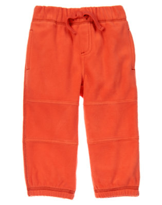 Toddler Boys Bonfire Red Microfleece Active Pants by Gymboree