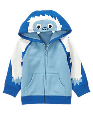 Blue Chill Yeti Fleece Hoodie by Gymboree