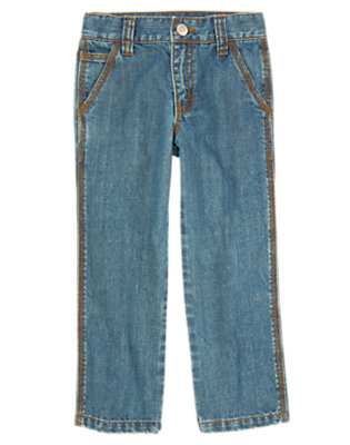 Boys Denim Straight Jean by Gymboree