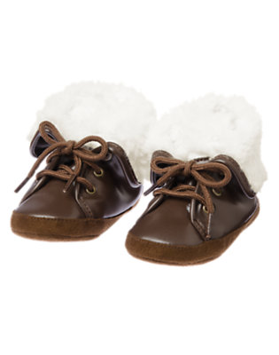 Cozy Brown Cute & Cozy Crib Shoes by Gymboree