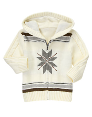 Snow Bunny Fair Isle Zip-Up Hoodie by Gymboree