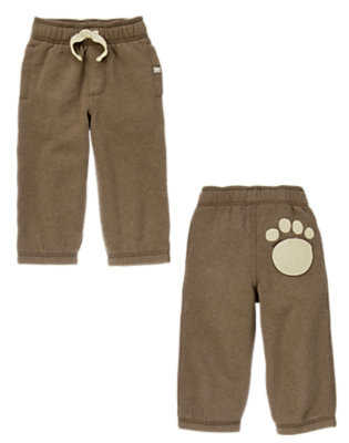 Hot Chocolate Fleece Paw Pant by Gymboree