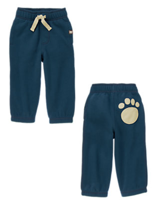 Toddler Boys Nordic Navy Fleece Paw Pant by Gymboree