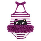 Kitty Striped Tutu Swimsuit