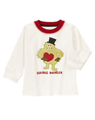 Toddler Boys Ivory Eligible Bachelor Tee by Gymboree