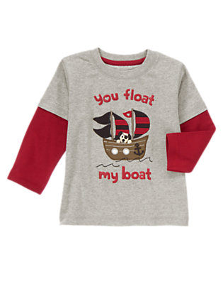 Heartthrob Heather Grey You Float My Boat Tee by Gymboree