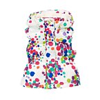 Paint Dots Hooded Puffer Vest