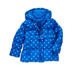 Polka Dot Hooded Puffer Jacket