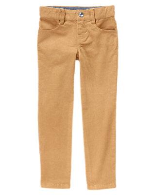 Girls Winter Gold Shimmer Velveteen Pants by Gymboree