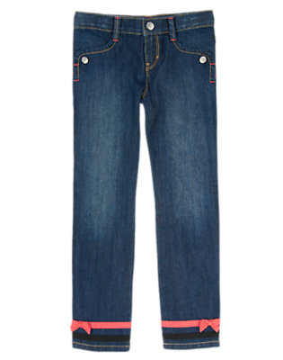 Denim Bow Cuff Jeans by Gymboree