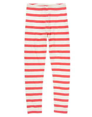 Girls Purrfect Pink Stripe Striped Leggings by Gymboree