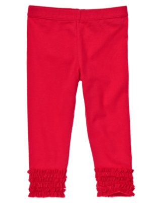 Toddler Girls Valentine Red Tulle Ruffle Leggings by Gymboree
