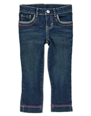 Girls Denim Pickstitched Cropped Jeans by Gymboree