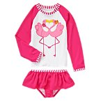 Kissing Flamingos Rash Guard Set
