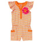 Striped Flower Romper