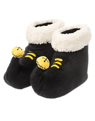 Toddler Boys Black Elf Slippers by Gymboree