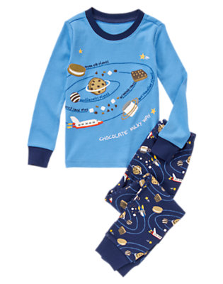 Toddler Boys Galactic Blue Chocolate Milky Way Two-Piece Gymmies® by Gymboree