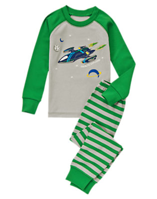 Galactic Green Galactic Explorer Two-Piece Gymmies® by Gymboree