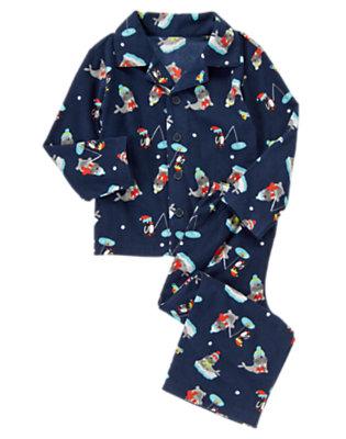Nordic Navy Polar Pals Two-Piece Pajama Set by Gymboree