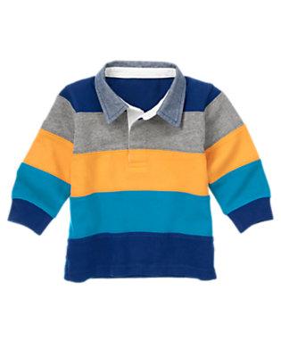 Super Dude Stripe Pieced Stripe Rugby Shirt by Gymboree