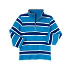 Stripe Thermal Half Zip Pullover