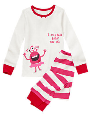 Planetary Pink Adoring Alien Two-Piece Gymmies® by Gymboree