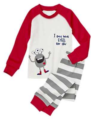 Rocket Red Adoring Alien Two-Piece Gymmies® by Gymboree