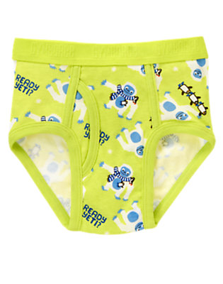 Toddler Boys Electric Lime Ready Yeti Brief by Gymboree