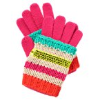 Stripe Sequins Two-Part Gloves