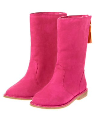 Girls Raspberry Tassel Boots by Gymboree