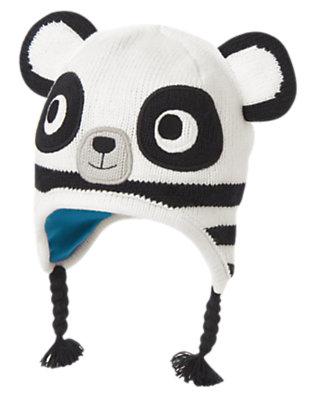 Toddler Boys Winter White Panda Sweater Hat by Gymboree
