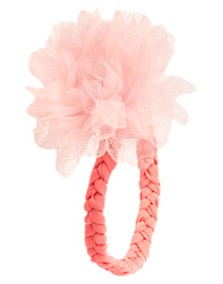 Toddler Girls Pink Carnation Braided Rosette Fruffle by Gymboree